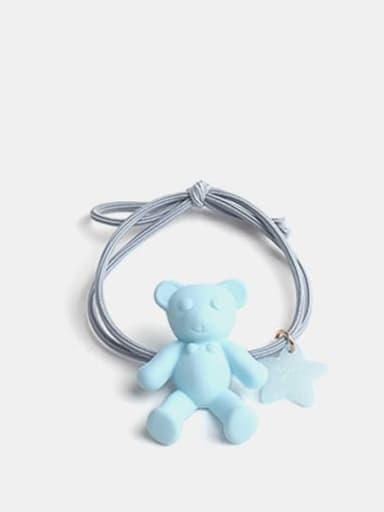 Blue Cute Bear+Resin Multi Color Hair Barrette