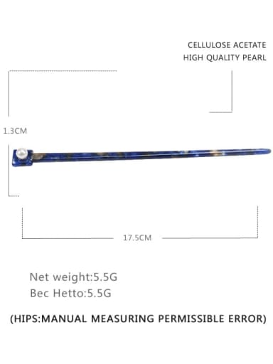navy blue Cellulose Acetate Minimalist Multi Color Hair Stick