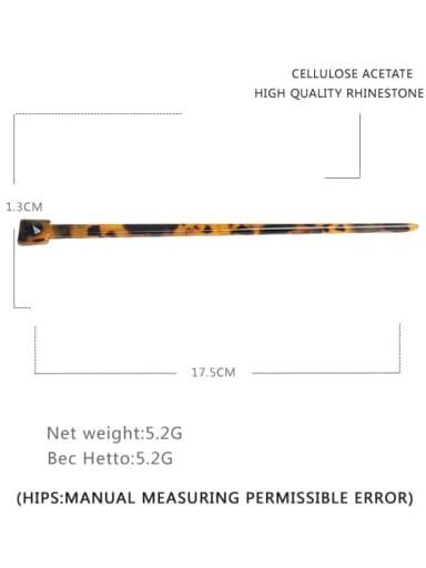 Deep hawksbill Cellulose Acetate Minimalist Multi Color Hair Stick