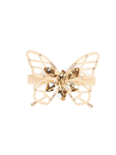 Cellulose Acetate Minimalist Hollow Butterfly Alloy Cubic Zirconia Hair Barrette