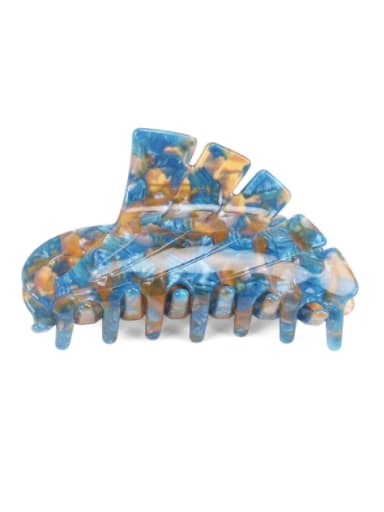 Malachite blue Cellulose Acetate Minimalist Geometric Jaw Hair Claw
