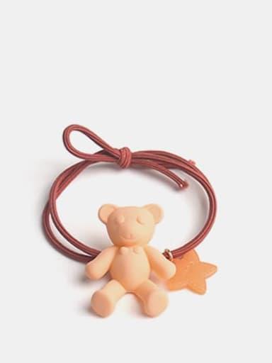 orange Cute Bear+Resin Multi Color Hair Barrette