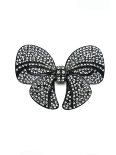 Black White Diamond Alloy Rhinestone Vintage Butterfly  Hair Barrette