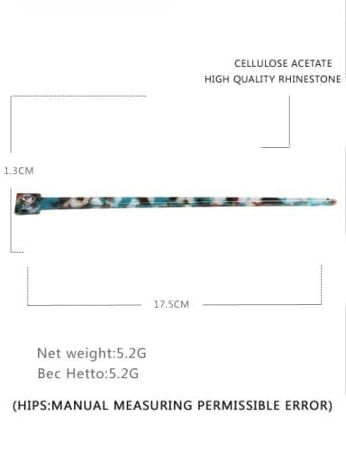 Dark green Cellulose Acetate Minimalist Multi Color Hair Stick