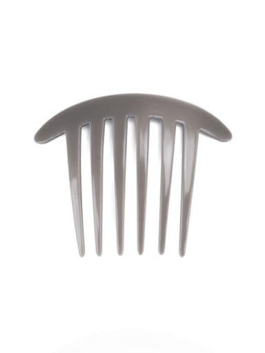 gray Cellulose Acetate Minimalist Geometric Multi Color Hair Comb