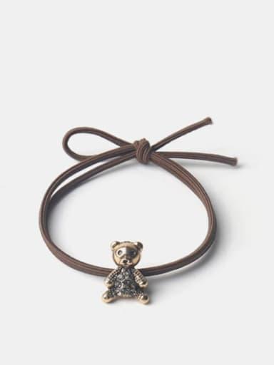 Alloy Cute Bear Rhinestone Hair Rope