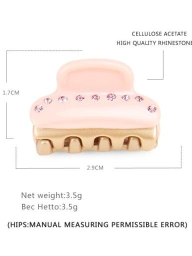 Solid toner Cellulose Acetate Minimalist Geometric Alloy Rhinestone Jaw Hair Claw