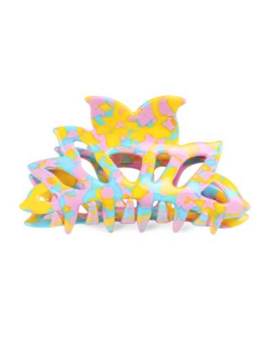 Cellulose Acetate Minimalist Geometric Multi Color Jaw Hair Claw