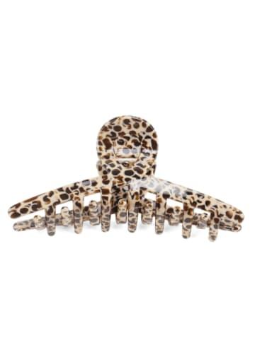 Coffee Leopard Cellulose Acetate Minimalist Irregular Jaw Hair Claw