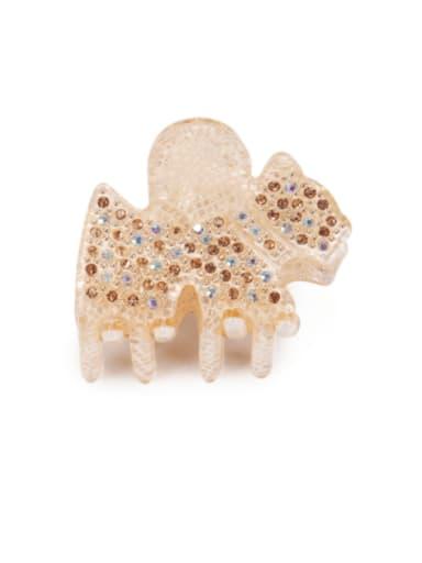 gold Acrylic Cute Horse Alloy Rhinestone Jaw Hair Claw