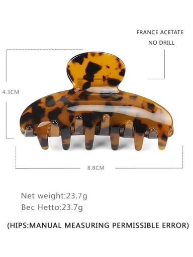 Large deep hawksbill Cellulose Acetate Minimalist Irregular Multi Color Jaw Hair Claw