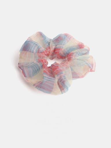 Red blue Minimalist Yarn  Hair Barrette