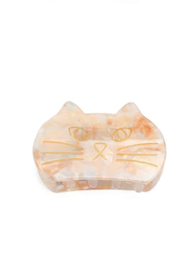 golden Cellulose Acetate Minimalist Cat Multi Color Jaw Hair Claw