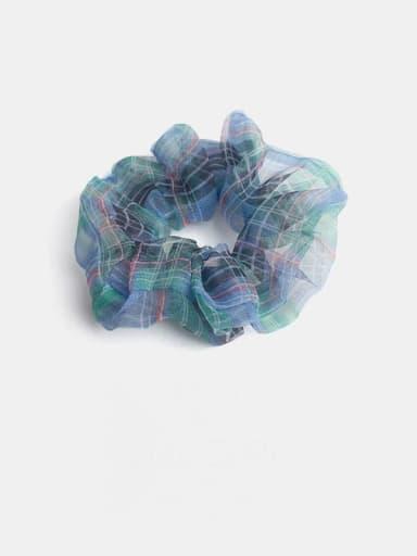 Green blue Minimalist Yarn  Hair Barrette