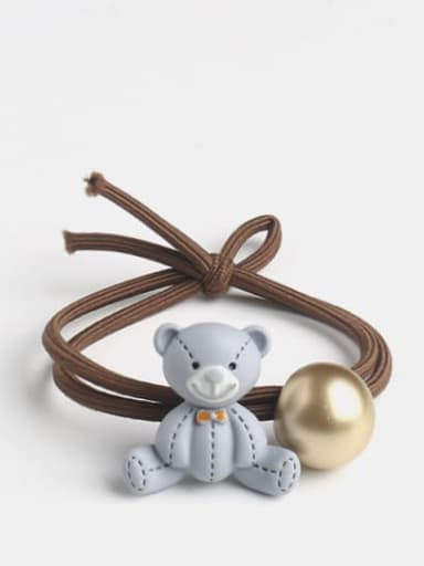 Grey bear Cute bear rabbit Resin Multi Color Hair Rope