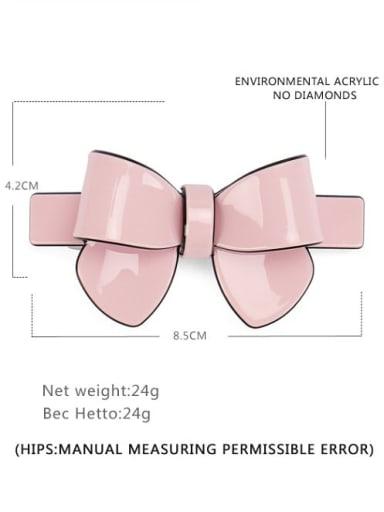 Solid toner large Cellulose Acetate Minimalist Bowknot Alloy Multi Color Hair Barrette
