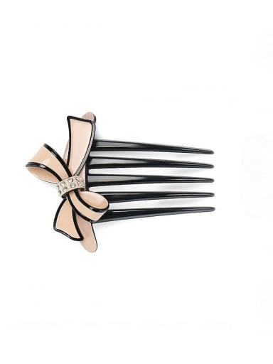 Pink Cellulose Acetate Minimalist Butterfly Multi Color Hair Comb