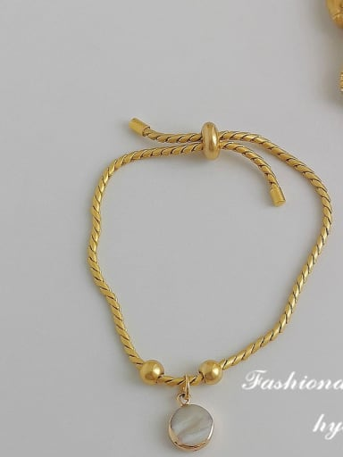 Alloy Shell Gold Geometric Trend Adjustable Bracelet