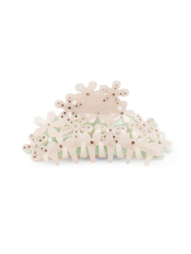 Cellulose Acetate Minimalist Hollow Flower Jaw Hair Claw