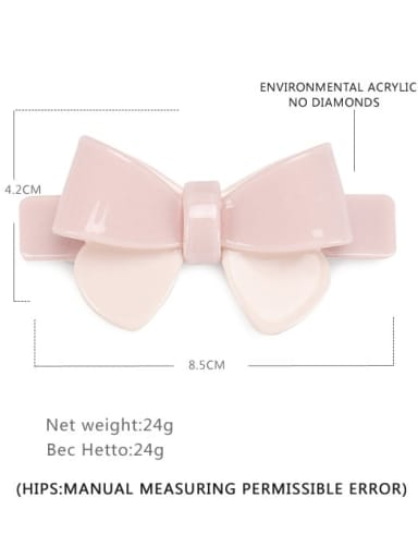 Crystal powder large Cellulose Acetate Minimalist Bowknot Alloy Multi Color Hair Barrette