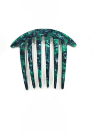 Six tooth 4.0 thick plate Cellulose Acetate Minimalist Multi Color Hair Comb