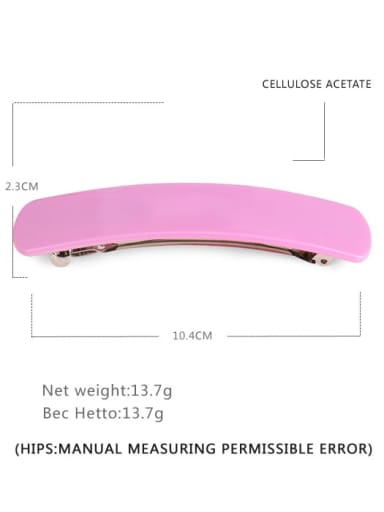Pink Alloy Cellulose Acetate Minimalist Geometric  Hair Barrette