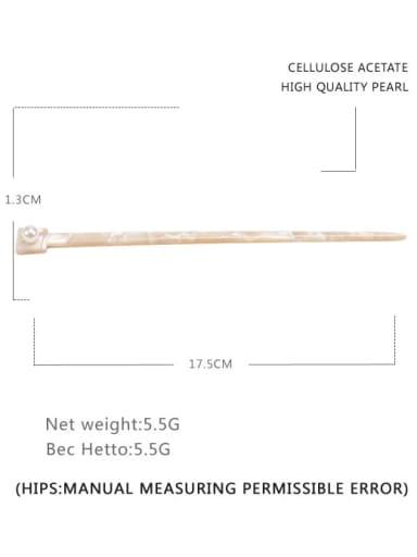 ivory Cellulose Acetate Minimalist Multi Color Hair Stick