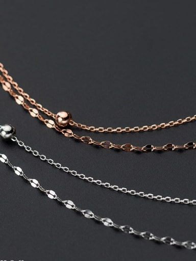 925 Sterling Silver Silver Minimalist Multi Strand Necklace