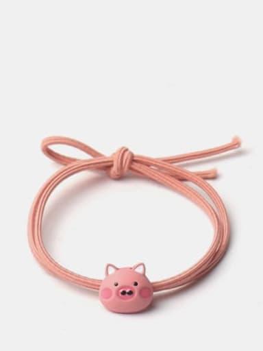 Pink pig Cute Light Pink Rabbit Yellow Duckling Pink Pig Hair Rope
