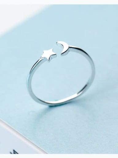 925 Sterling Silver Silver Irregular Cute Ring