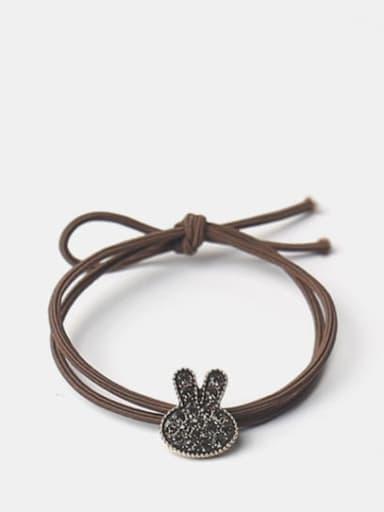 Water drill rabbit head Alloy Cute Diamond Bow Bear Hair Rope