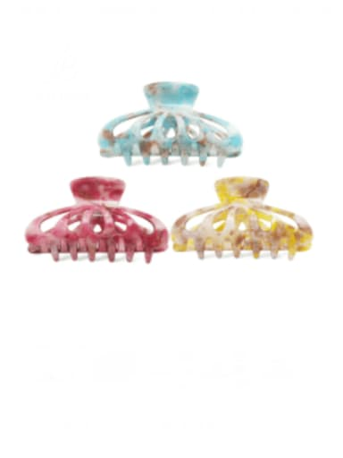 Acrylic Minimalist Geometric Multi Color Jaw Hair Claw