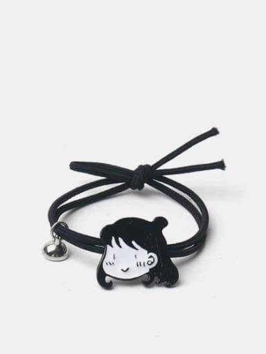 Alloy Enamel Cute Magnet Boy Magnet Girl  Black Hair Rope