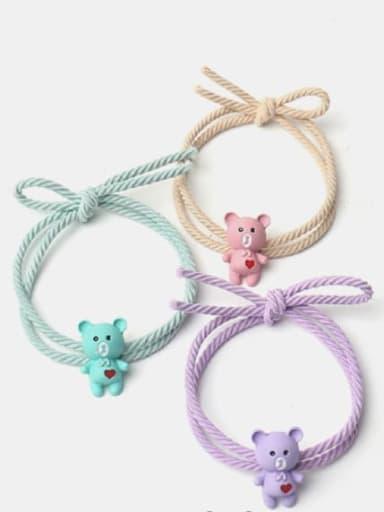 Alloy Cute Heart  Multi Color Hair Rope