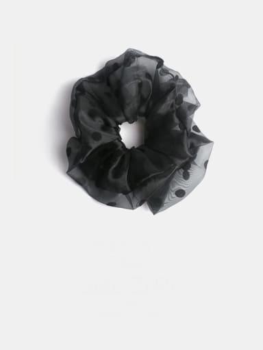 Black super large wave  Point Yarn Minimalist Large Wave Point Large Intestine Circle