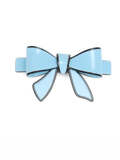 blue Cellulose Acetate Minimalist Butterfly Hair Barrette