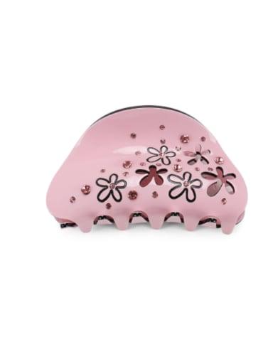 Pink Acrylic Minimalist Geometric Alloy Rhinestone Multi Color Jaw Hair Claw