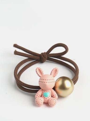 Cute bear rabbit Resin Multi Color Hair Rope