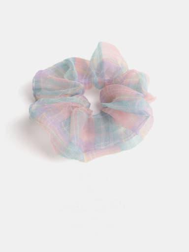 Pink Green Minimalist Yarn  Hair Barrette