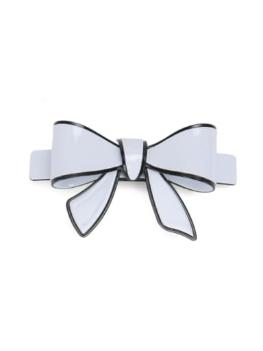 white Cellulose Acetate Minimalist Butterfly Hair Barrette