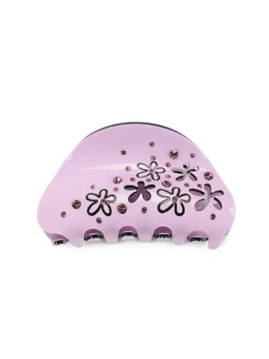 purple Acrylic Minimalist Geometric Alloy Rhinestone Multi Color Jaw Hair Claw