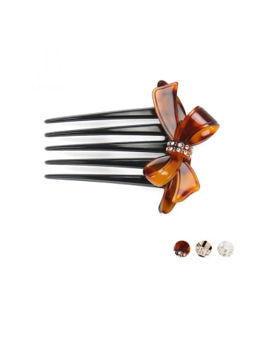 Cellulose Acetate Minimalist Butterfly Multi Color Hair Comb