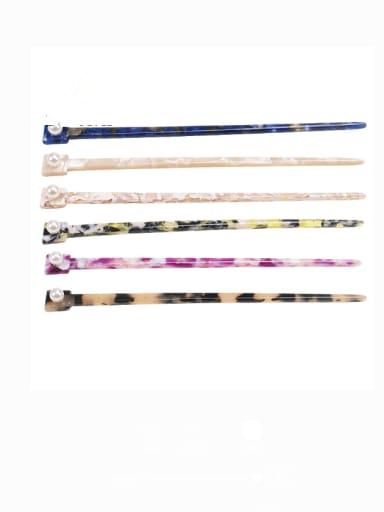 Cellulose Acetate Minimalist Multi Color Hair Stick