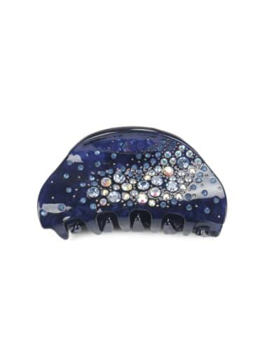 Cellulose Acetate Minimalist Geometric Rhinestone Multi Color Jaw Hair Claw