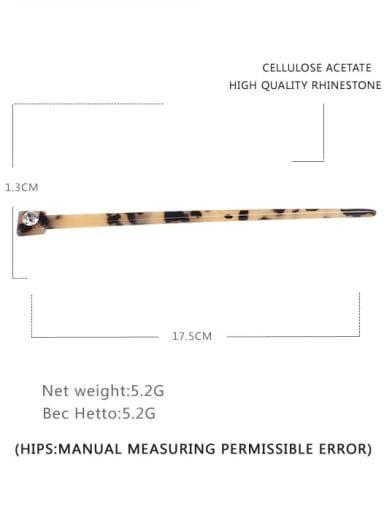 Shallow hawksbill Cellulose Acetate Minimalist Multi Color Hair Stick