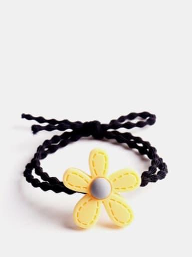 yellow Enamel Cute Flower Resin Multi Color Hair Barrette