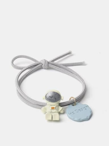 Grey blue seated astronaut Alloy Cute  Resin Multi Color Hair Rope