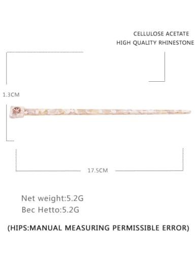 Broken pink Cellulose Acetate Minimalist Multi Color Hair Stick