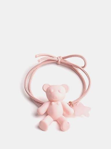 Pink Cute Bear+Resin Multi Color Hair Barrette