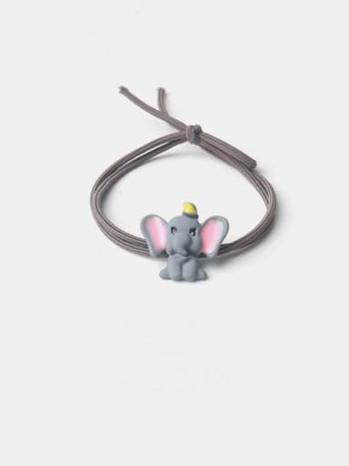 Grey flying elephant grey rope Alloy  Simple Cute Small Flying Elephant Multi Color Hair Rope